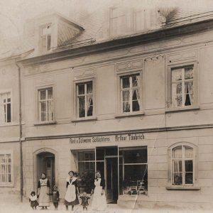 Postkarte-Rind-u.-Schweine-Schlächterei-Arthur-Täubrich
